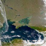 Satellite Black Sea of Azov Azov and Black Seas