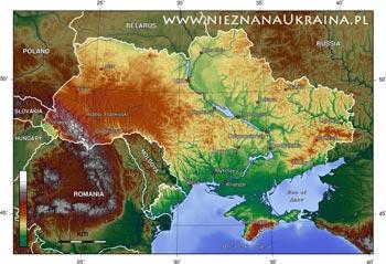 Ukraina--mapy